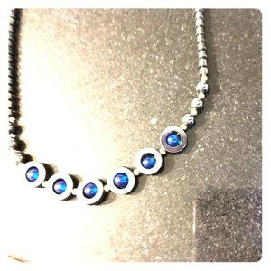 Silpada Charcoal Grey and Deep Sea Blue Necklace